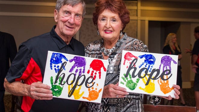 Joanne Lindsay, here with Ted Lindsay, served on the board for the Ted Lindsay Foundation, which raises money for autism research.