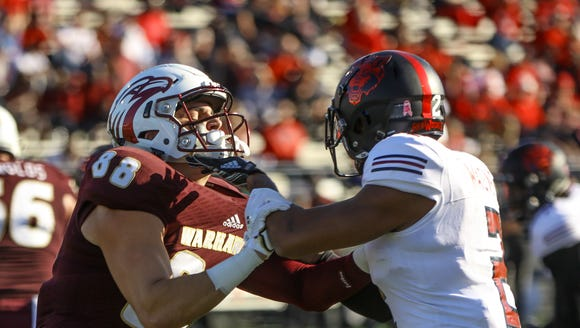 ULM scored 50 points or more for a school record fourth time in a season in a 67-50 loss to Arkansas State on Senior Day at JPS Field at Malone Stadium.