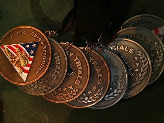 Here are some of the medals earned by one of Fort Bliss' wounded warriors through participation in adaptive sports.