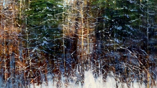'Ode to the Winter Woods' is one of the paintings from Teri Malo on display at Summer Star Wildlife Sanctuary's Linden Street Gallery through Jan. 31, 2021.