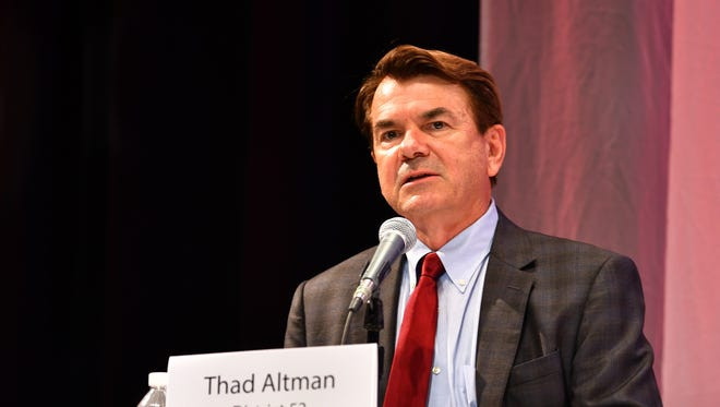 had Altman speaks at the forum. FLORIDA TODAY held a forum for House District 52 Wednesday night at Eastern Florida State College Cocoa Campus with candidates Thad Altman, Matt Nye and Seeta Begui.