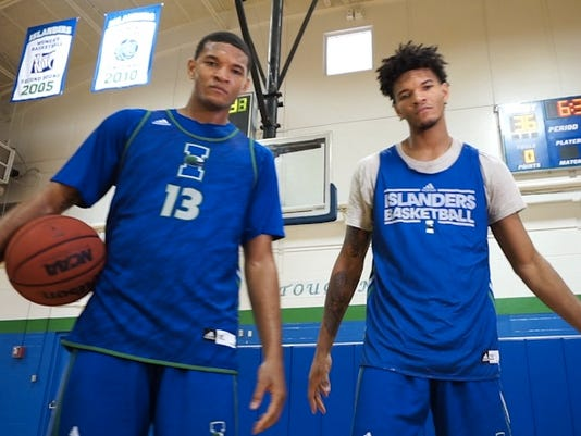 The Twin Towers of the Islanders Basketball Team