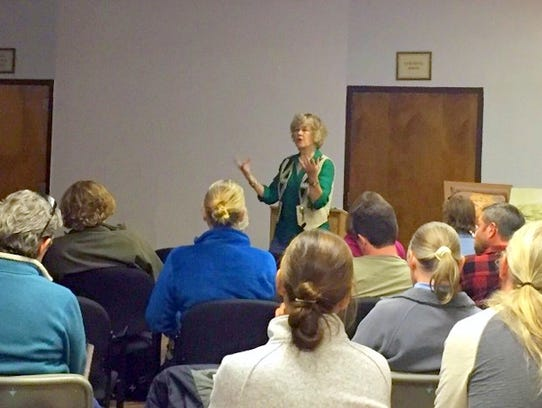Historian Lynda Sanchez gives listeners background