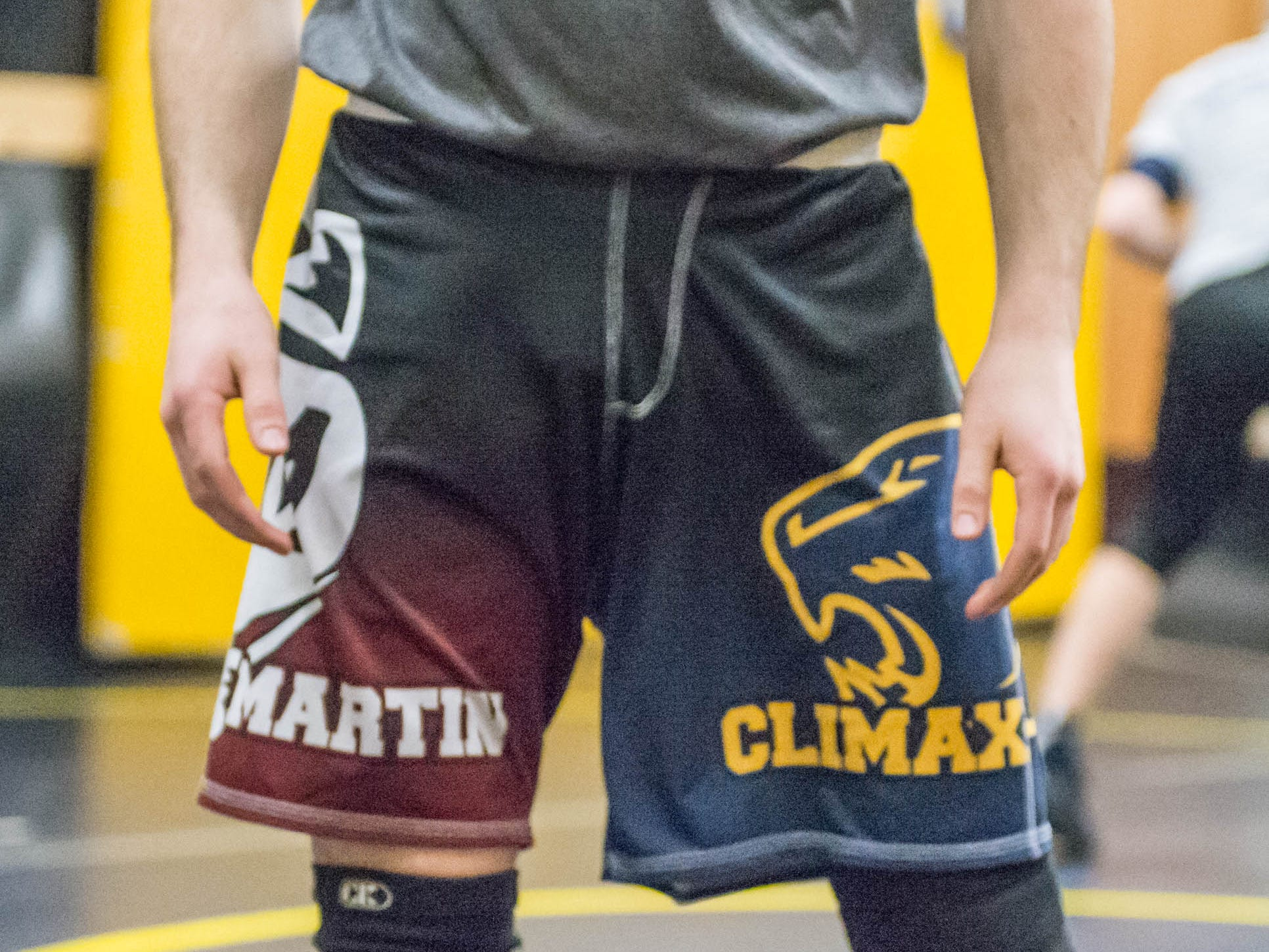 Co-op wrestling team shorts for Climax-Scotts and Martin.