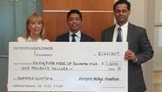 Accepting the grant check from the Enterprise Holdings Foundation are (left to right) Marie Sperber, vice presidentof Business and Philanthropy at the VNA of Somerset Hills; Jose Jalandoni, account manager, Enterprise Fleet Management; and Nick Kouyialis, vice president of Finance and Business, at the VNA of Somerset Hills. Funds will support home health, hospice and community wellness services provided to residents of Morris and Somerset counties in New Jersey.
