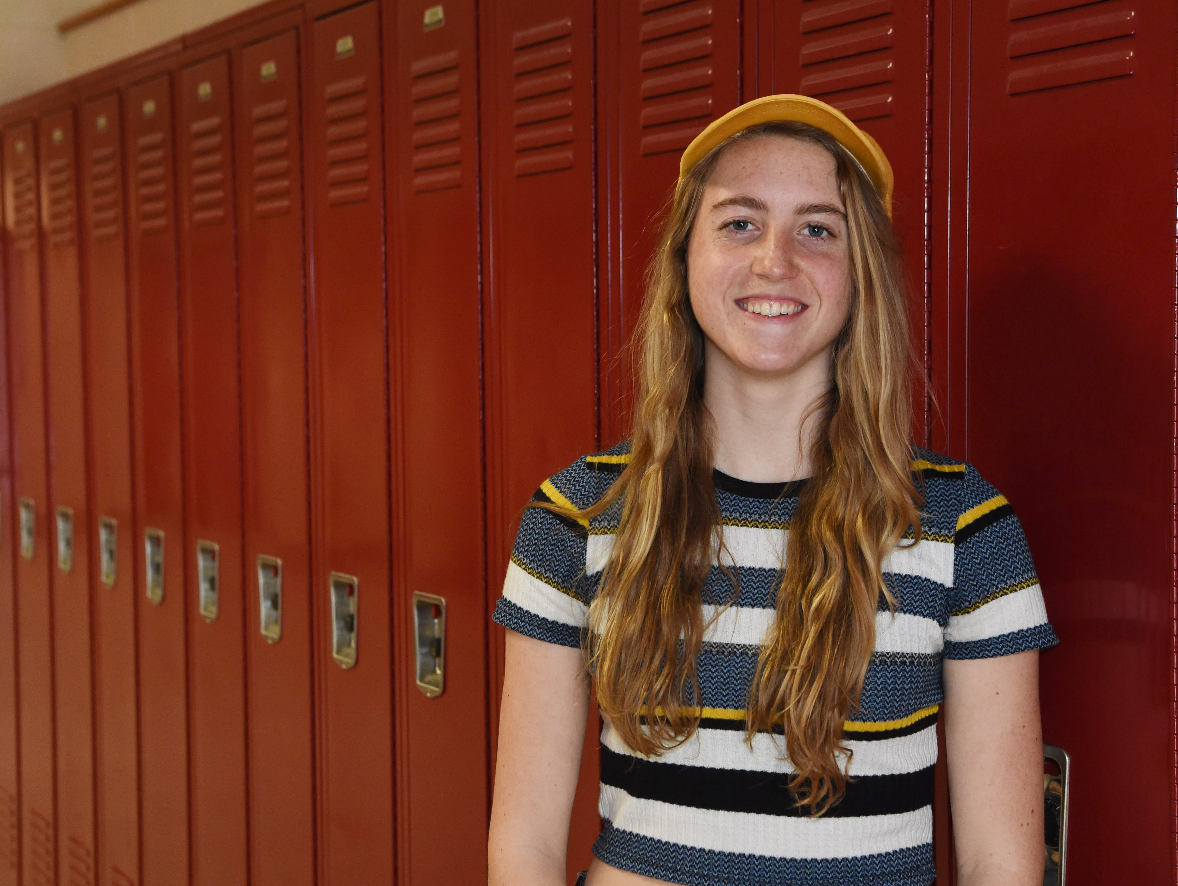 Jordan Nagel, 16, a junior at New Paltz High School and a member of the school's skiing team.