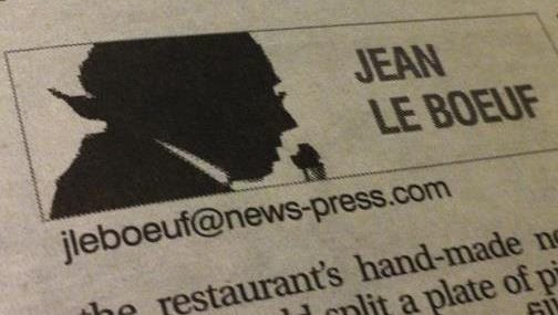 Jean Le Boeuf is the pseudonym used by The News-Press' food critics since 1979.
