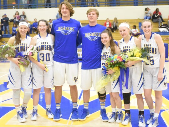 Mountain Home basketball seniors for 2017-18 are (from