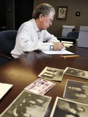 Lipscomb University professor Charlie McVey works to