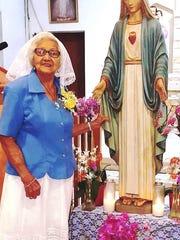 Josefa Cruz Garrido, 91, a World War II survivor, has
