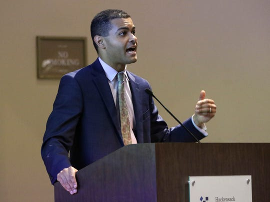 NJ Health Commissioner, Dr. Shereef Elnahal, speaks at Hackensack University Medical Center about medical marijuana. Wednesday, July 11, 2018