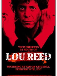 A 24-hour tribute to the music of Lou Reed will be