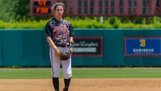 Abby Evans is a sophomore pitcher on the Florida State softball team.