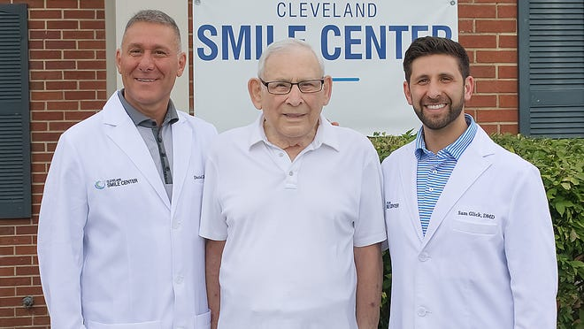 The Clevand Smile Center in Aurora is owned by Dr. Sidney Glick, center, his son Dr. Daniel Glick, and Daniel's son, Dr. Sam Glick. They also own an office in Cuyahoga Falls at 528 Portage Trail.
