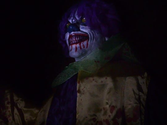 Clowns are a major part of the haunted house scene at the House of Horror in Bells.