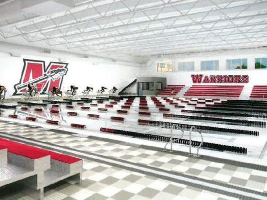 Muskego High School pool rendering