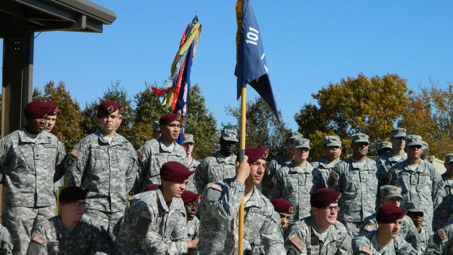 """The Pathfinders of Fox Company, 4th Battalion, 101st Aviation Regiment, 159th """"Wings of Thunder"""" Combat Aviation Brigade, 101st Airborne Division, deployed to Afghanistan in late 2013 as the only 100 percent Air Assault-qualified company in the division, among many other singular achievements."""