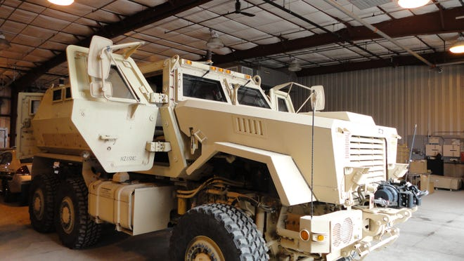 The Appleton Police Department has Caiman armored vehicle in its fleet. Wisconsin police agencies have received $28 million in military-grade equipment from the Pentagon.