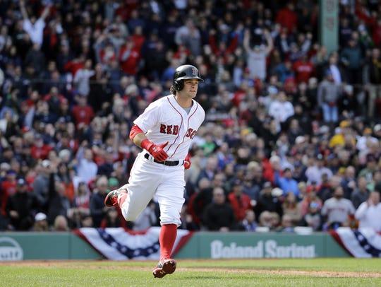 Andrew Benintendi's three-run homer in the fifth inning