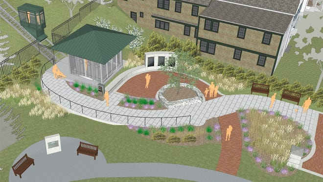 Artist rendering of the Bradford Access Project, an outdoor elevator in Provincetown.