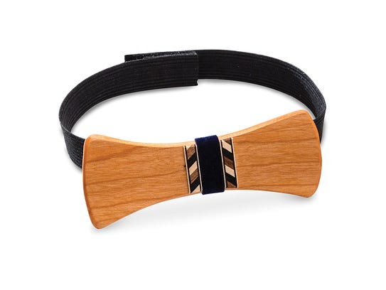 Give dad a wooden bow tie for Fathers Day. Make it