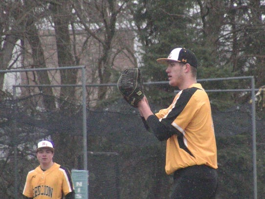 Red Lion's Tyler Burchett pitched in front of scouts