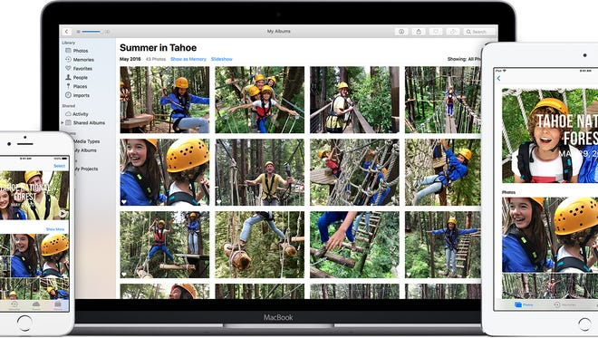 With iCloud Photo Library, all your images will be synced between devices.