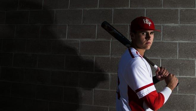 Brophy Prep senior third baseman Chad McClanahan at Phoenix Brophy Prep on April 25, 2016 in Phoenix, Ariz.