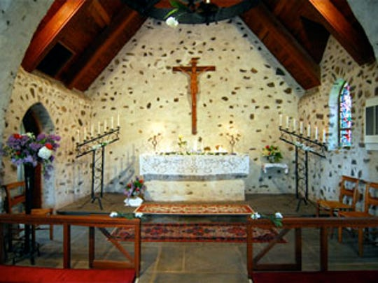 The interior of All Saints Chapel, with its hunting