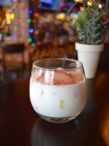 The Bad Granny | The Bevvy: The name says it all: a naughty but nice blend of Crown Royal Regal Apple whiskey, Cruzan Velvet Cinn horchata with rum, apple cider, sugar and spice. $10.   Details: The Bevvy, 4420 N. Saddlebag Trail, Scottsdale. 480-525-9300, bevvyaz.com.