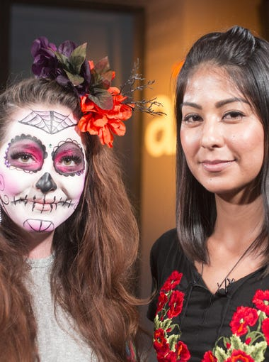 Phoenix artist Lucinda Yrene gives a tutorial on how to do adults and kids makeup to look like a Day of the Dead sugar skull.