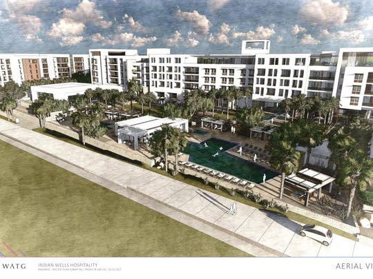 Rendering of the proposed Indian Wells Hospitality Project