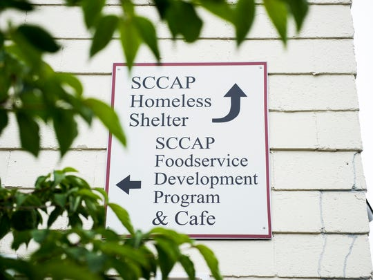 A sign at the South Central Community Action Programs in Gettysburg. SCCAP has received more than $600,000 in federal funding from the Community Development Block Grants program since 1985. The nonprofit's programs support impoverished individuals and includes a homeless shelter.