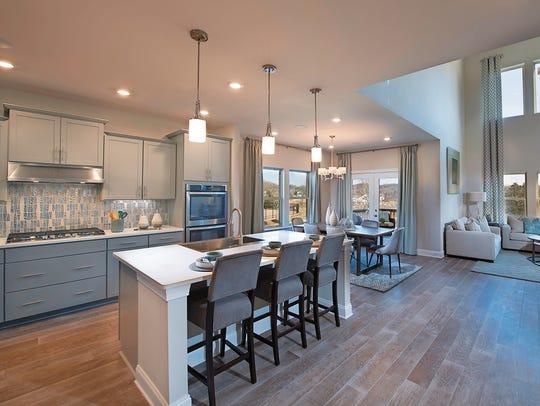 Open design is a hallmark of Meritage Homes' floor