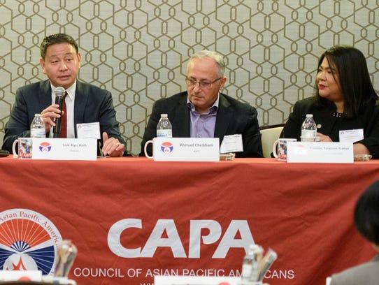 From left, Suk-kyu Koh, Ahmad Chebbani and Connie Tingson-Gatuz