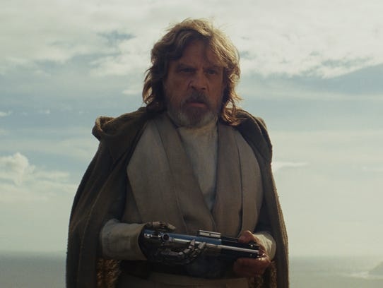 Luke Skywalker (Mark Hamill) is freaked out by the