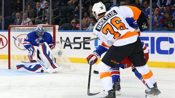 Chris VandeVelde will likely center the fourth line.