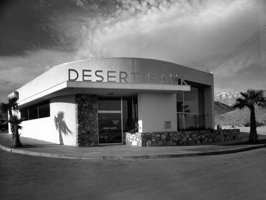 Desert Bank, designed by Albert Frey, at 456 N. Palm