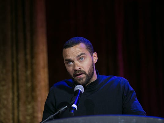 Jesse Williams giving the keynote address at the 2nd Annual Kapor Center Impact Awards honoring those advocating for greater diversity in tech. (Photo: Ashleigh Reddy for Stayreddy Photography)