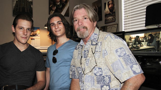 "Phillip and Tim Mark Wade (from left) produced the film ""Chryzinium"" along with Rick Lord."