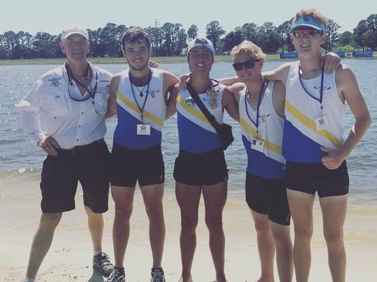 Treasure Coast Rowing Club coach Brian Colgan, junior