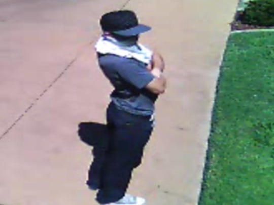 This photo shows a burglary suspect Redding police were looking for Monday.