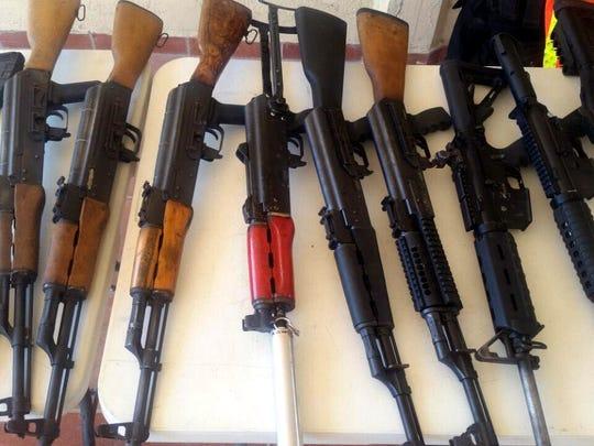 El tráfico de armas es un delito que queda sin castigo en México.