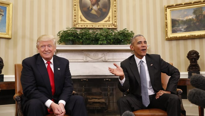 President Barack Obama meeting with President-elect Donald Trump