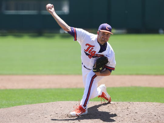 Clate Schmidt pitched seven solid innings in relief in the Tigers' loss to Georgia Tech Sunday afternoon.