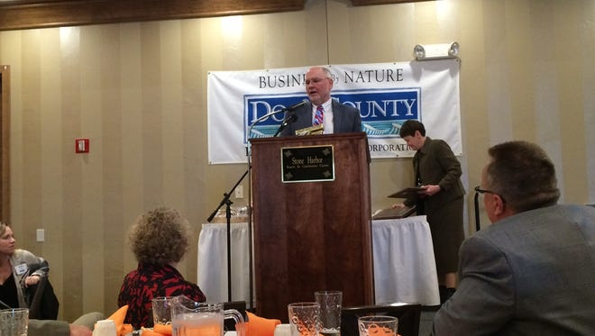 Brad Andreae, president of Therma-Tron-X in Sturgeon Bay, accepted an Industry of the Year award for the company during the Door County Economic Development Corp.