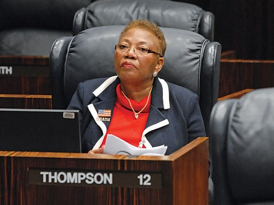 When Rep. Geraldine Thompson served in the Senate she proposed a ban on display of the Confederate battle flag