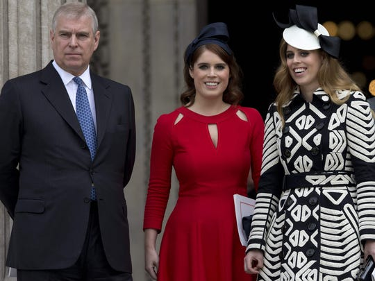 Prince Andrew Duke of York and his daughters, Princess