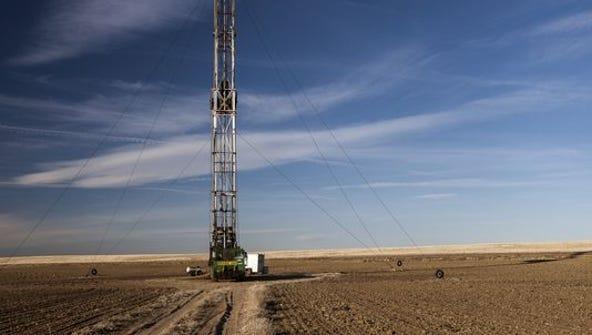 A fracking rig in Colorado.