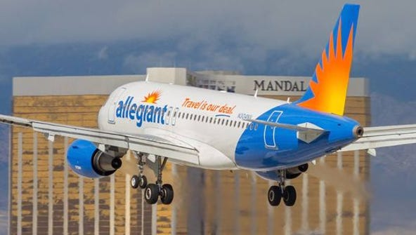 Allegiant Air begins its service to San Diego and Las